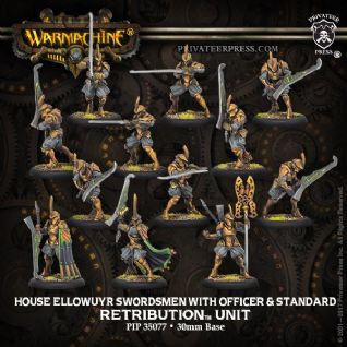 House Ellowuyr Swordsmen with Officer and StandardRetribution of Scyrah Unit (resin/metal)